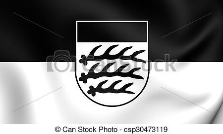 Clipart av stad, flagga, waiblingen, (baden.