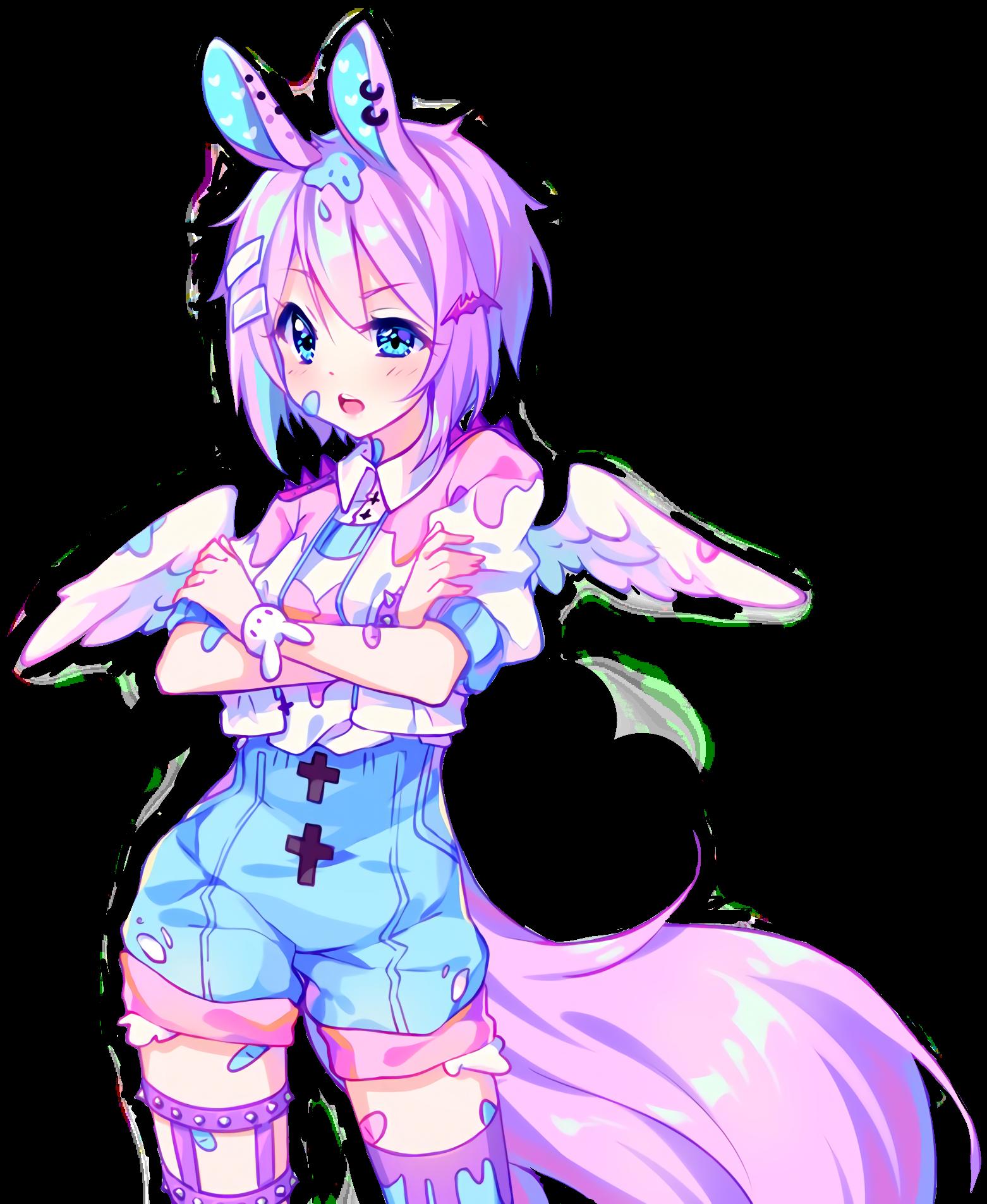 cute hyannanatsu highresolution waifu2x bunnygirl kawai.