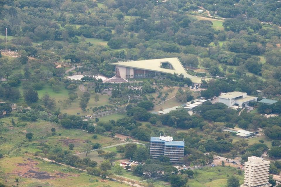PNG National Parliament Haus along Independence Drive in WAIGANI.