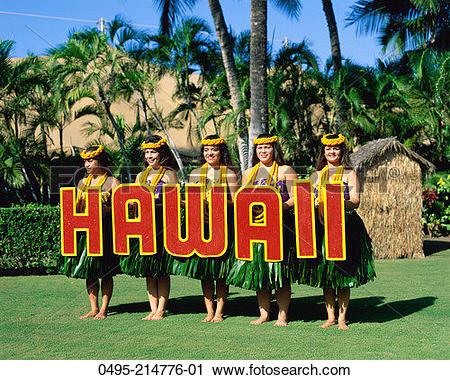 Stock Photography of Hawaii, Oahu, Honolulu, Waikiki, Kodak Hula.