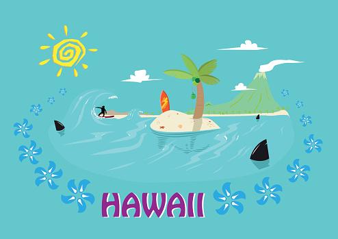 Waikiki Clip Art, Vector Images & Illustrations.