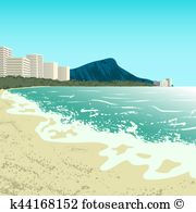 Waikiki Clipart Illustrations. 17 waikiki clip art vector EPS.