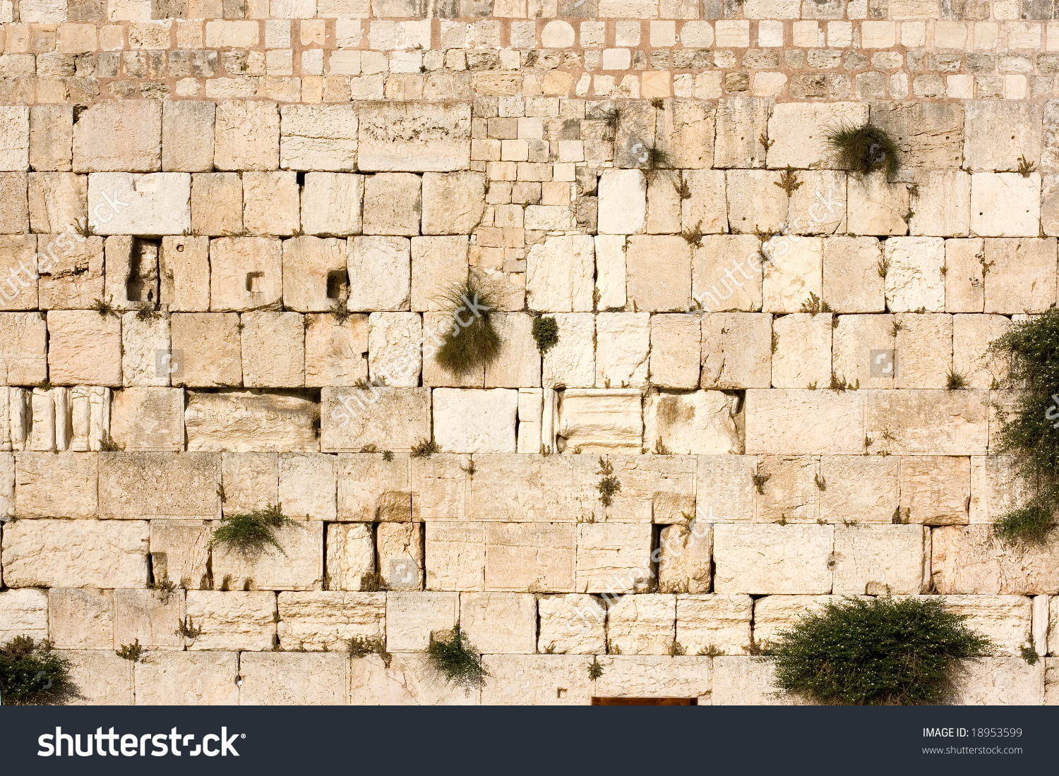 Wailing Wall Kotel Western Wall Useful Stock Photo 18953599.