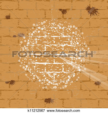 Clip Art of Vector illustration of wailing wall k11212567.