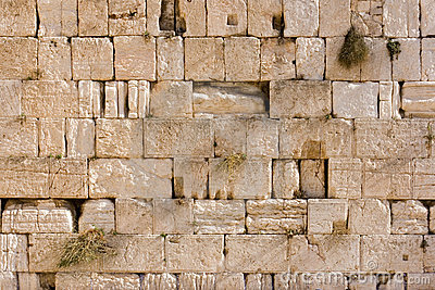 Wailing Wall (Western Wall) In Jerusalem Texture Royalty Free.