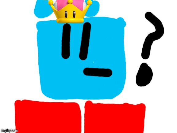 Wait a minute, is that the mushroom crown?! BLOCKY NO!.