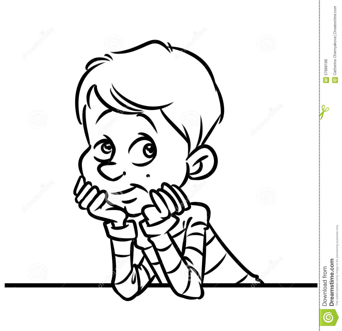 Child Waiting Clipart.