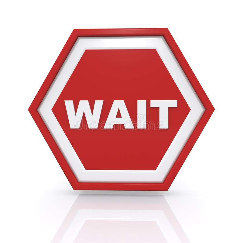 Wait Sign Stock Illustrations.