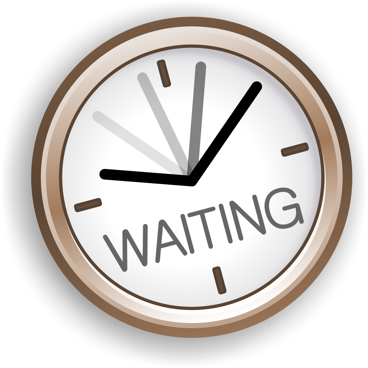 1769 Waiting free clipart.