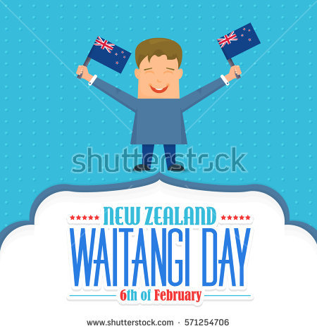 Waitangi Day Stock Images, Royalty.