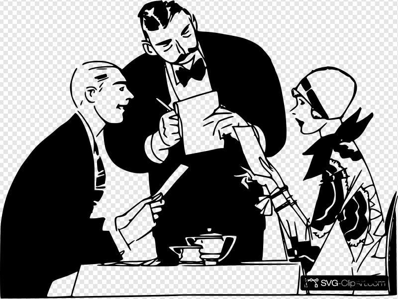 Restaurant Waiter Clip art, Icon and SVG.