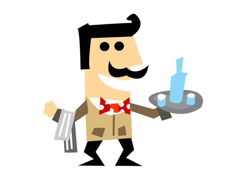 Waiter Svg 3 Food Service Waiter Clipart Image Restaurant Server Svg Clip  Art Png.