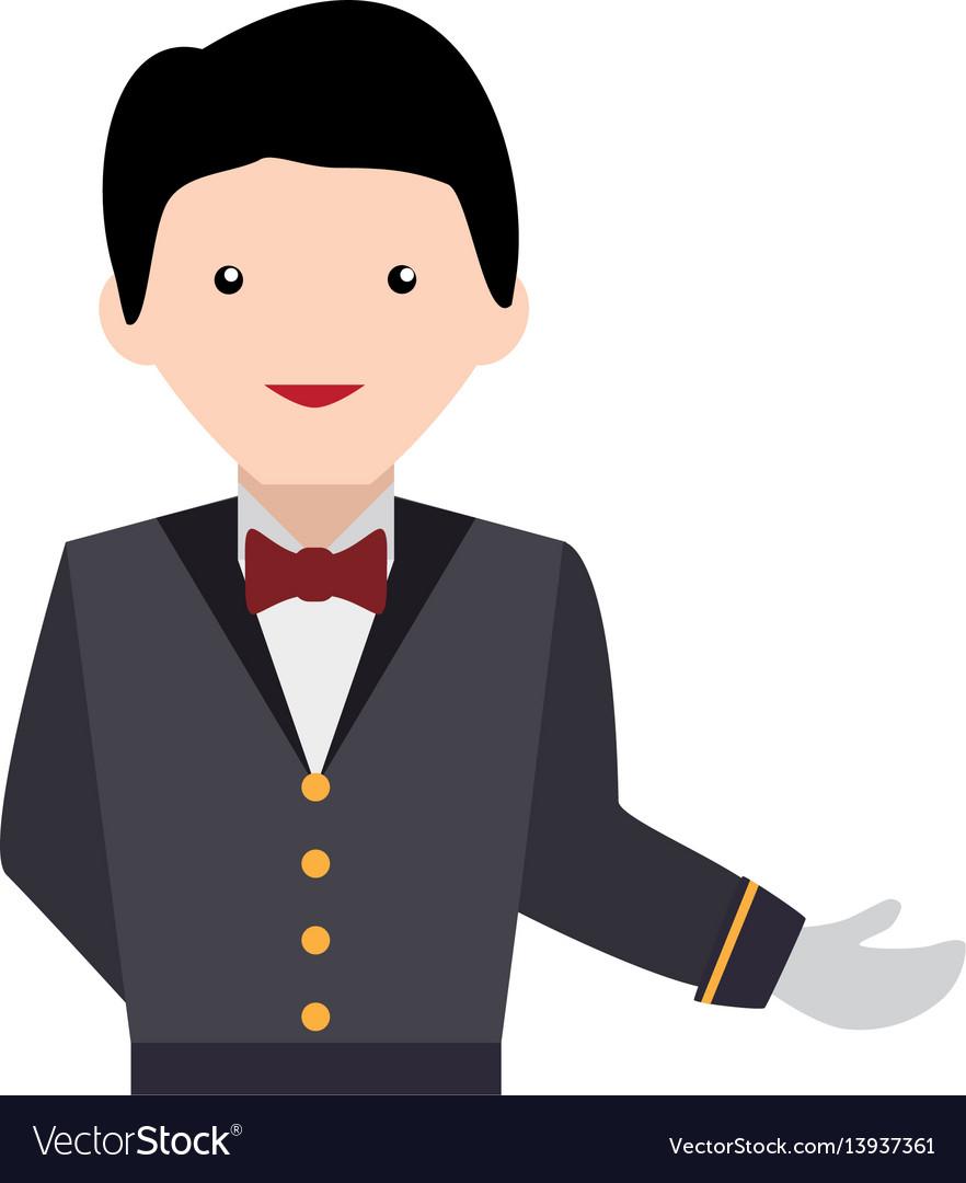 Waiter service clipart.