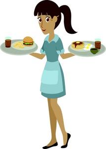 Cartoon waiter clipart.
