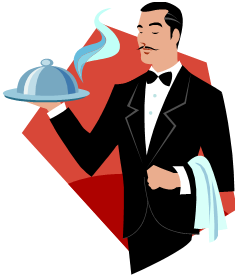 Waiter Clipart.