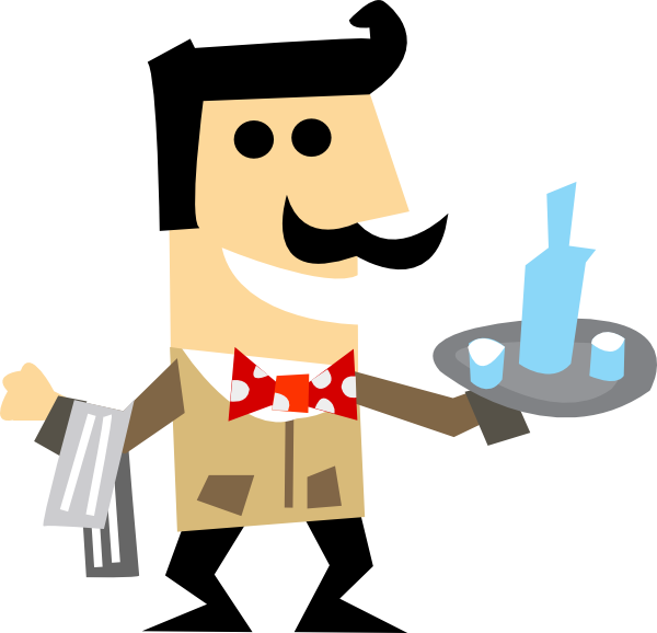 Waiter Clipart Png.