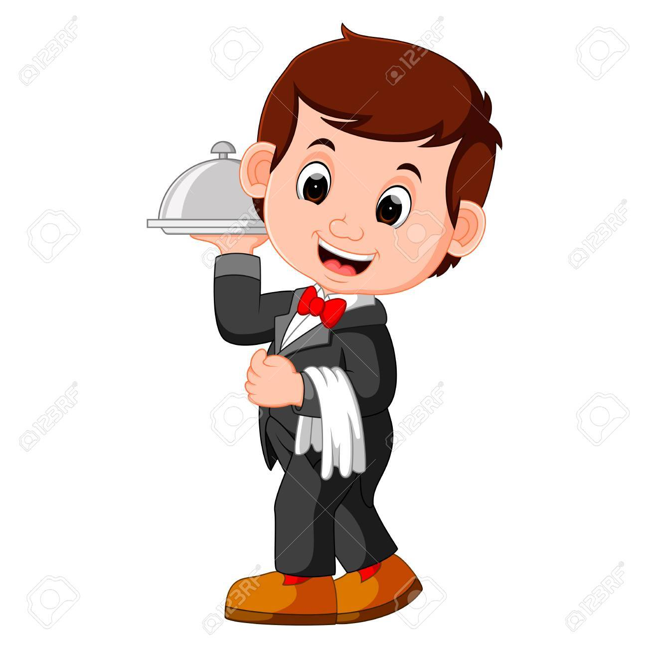 Clipart waiter 3 » Clipart Station.