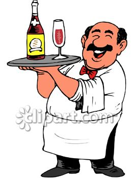 Jolly Italian Waiter Clipart.