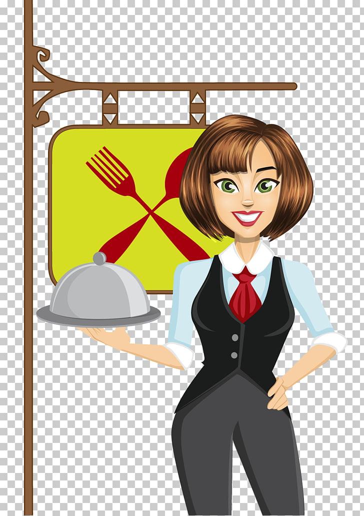 Waiter , Waitress s PNG clipart.