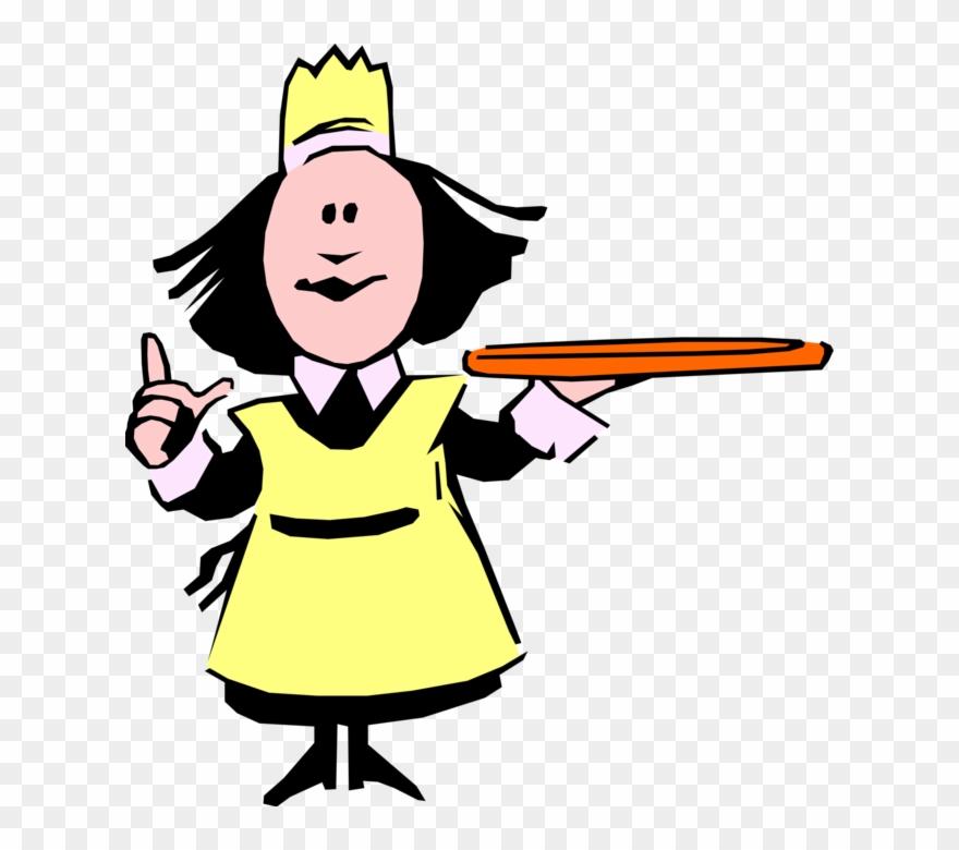 Holds Serving Tray Image Illustration Of Female.