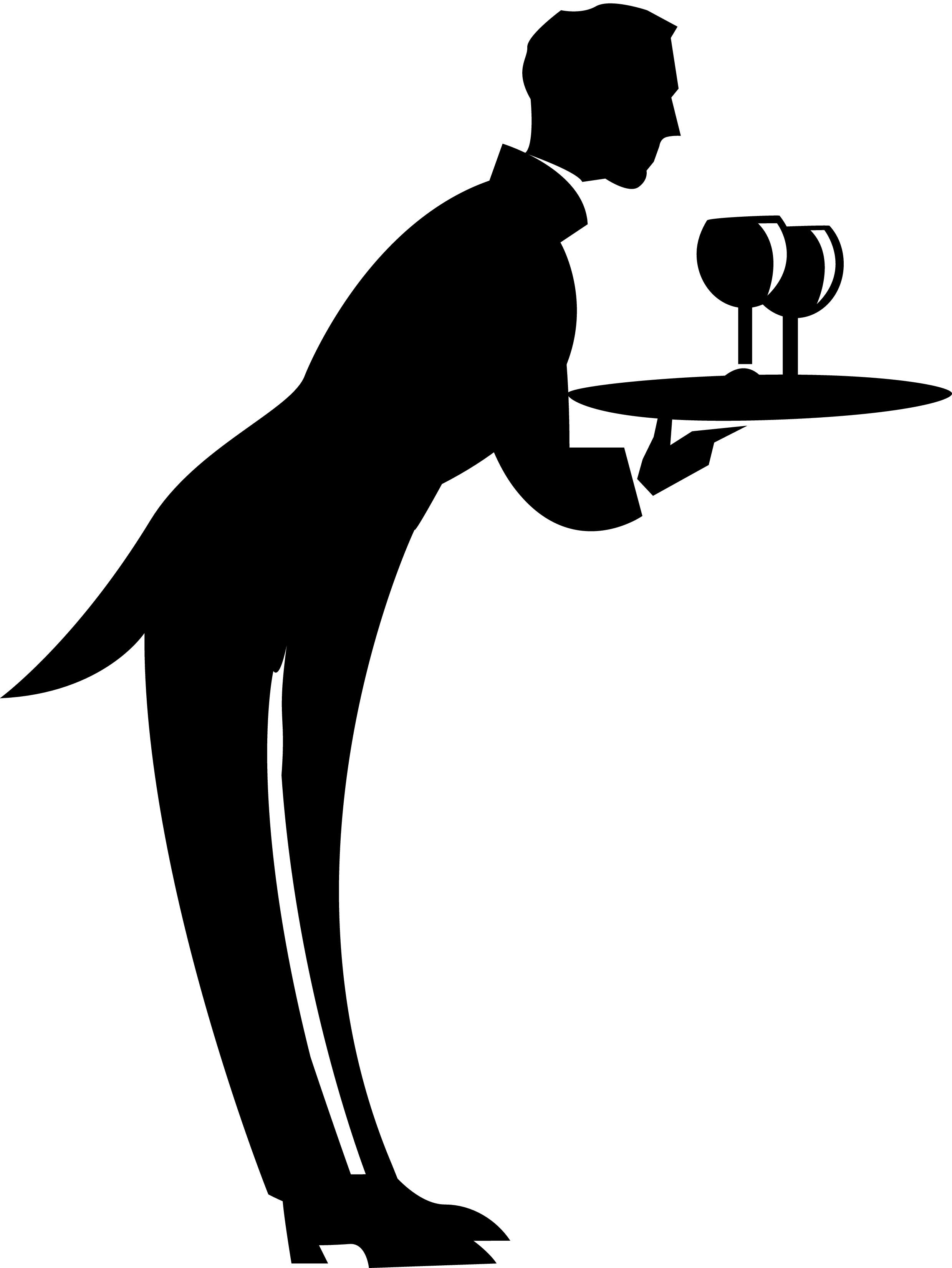 Waiter Clip Art N24 free image.