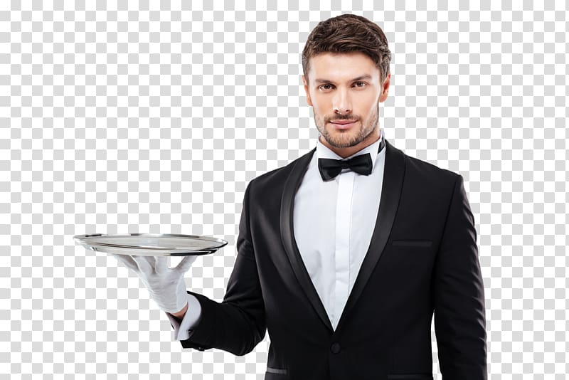 Man holding silver plate, Butler Tray Silver , waiter.