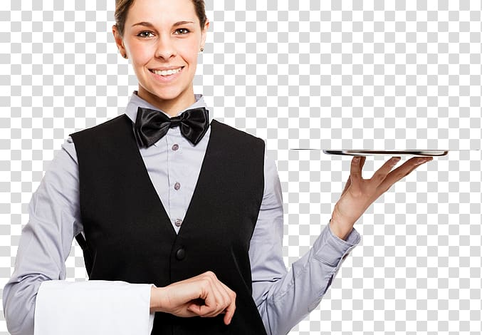 Waiter Tray Dish Woman, others transparent background PNG.