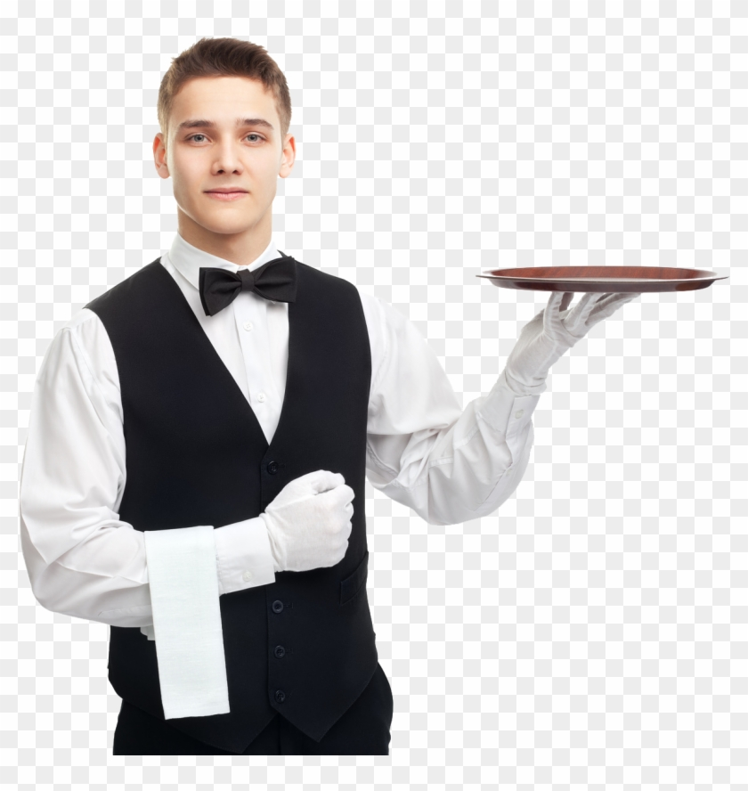 Waiter With Tray Png, Transparent Png (#704495).