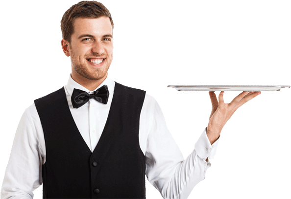 Waiter PNG images free download.