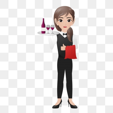 Waiter PNG Images.