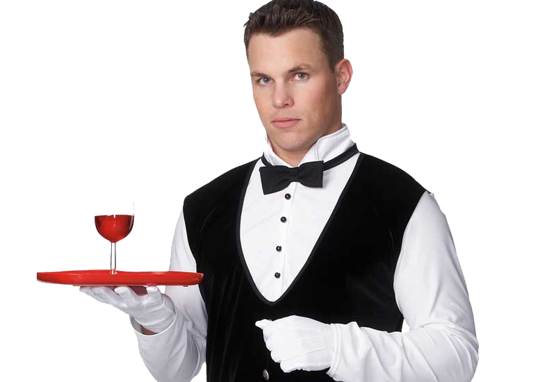 Waiter PNG Pic.