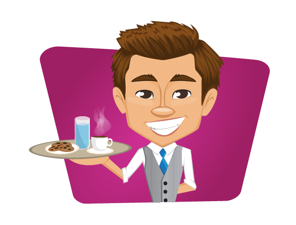 589 Waiter free clipart.