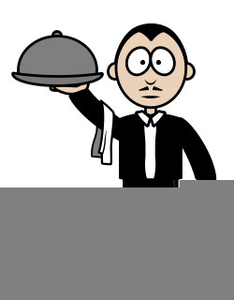 Waiter Animated Clipart.