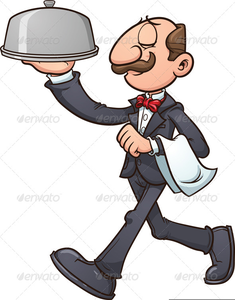 Animated Waiter Clipart.