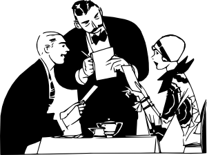 Restaurant Waiter clip art.