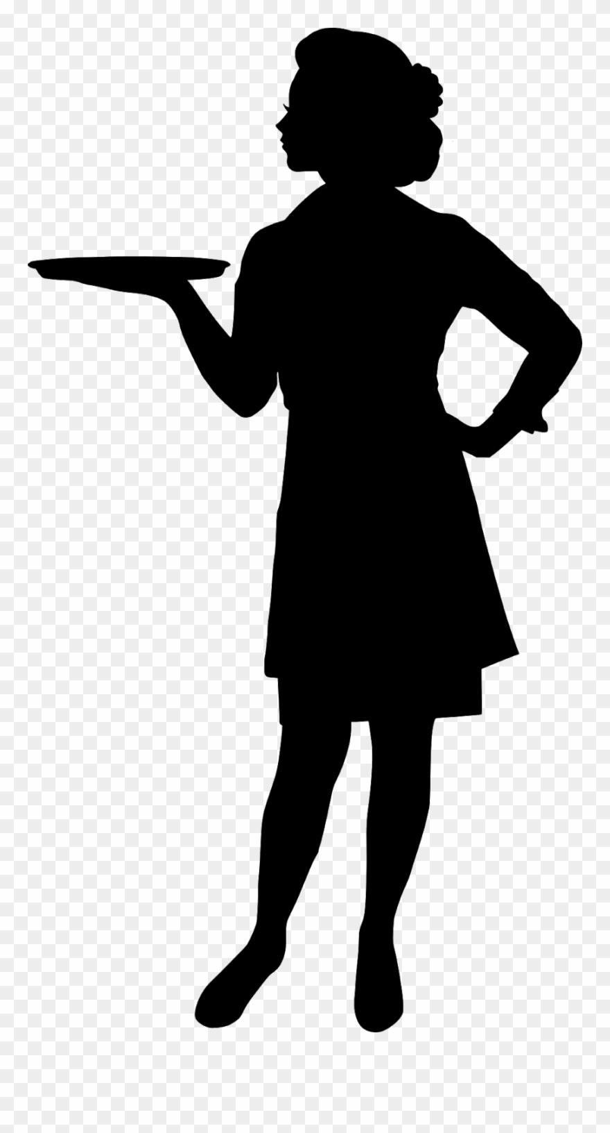 Waitress Silhouette Clipart (#4923661).