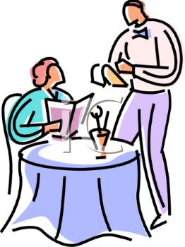 589 Waiter free clipart.