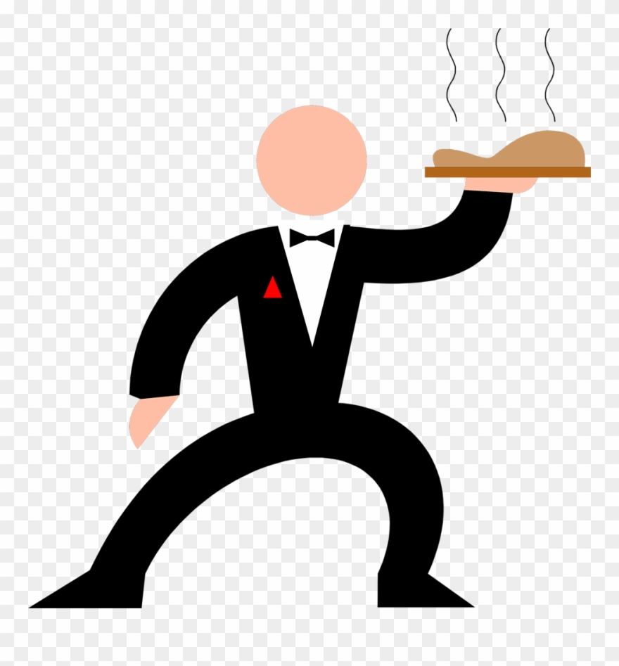 Hand Clipart Waiter.