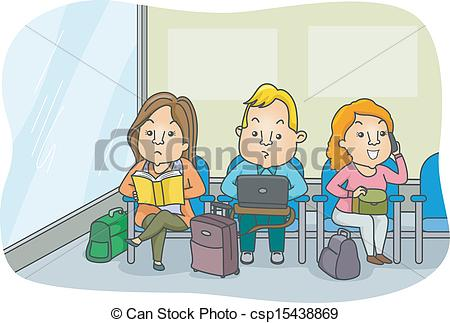 Waiting area clipart #7