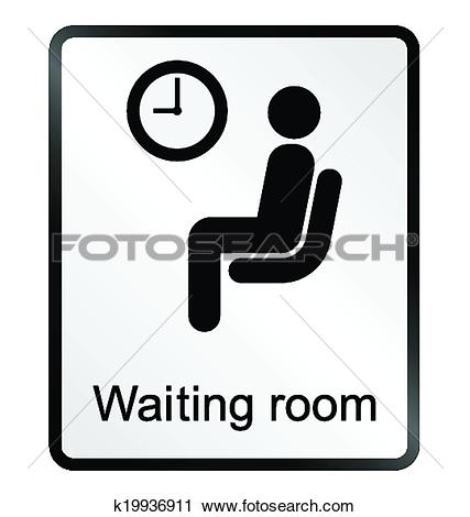 Clip Art of Doctors waiting room Information Si k20198467.