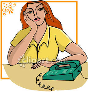 A Woman Waiting For a Phone Call.