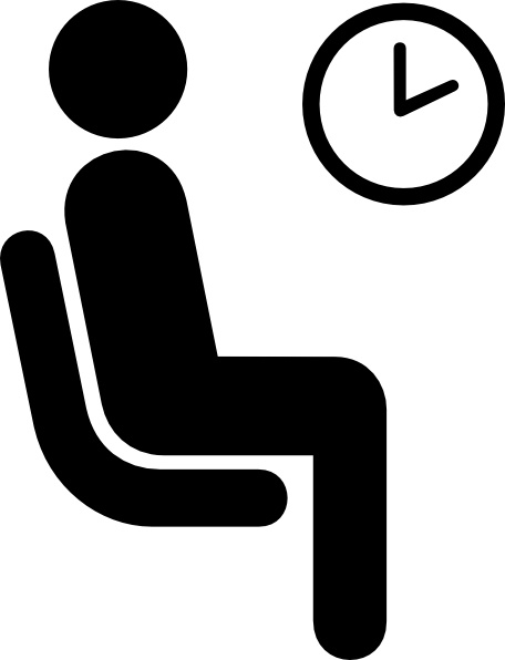 Aiga Waiting Sign clip art Free vector in Open office drawing svg.