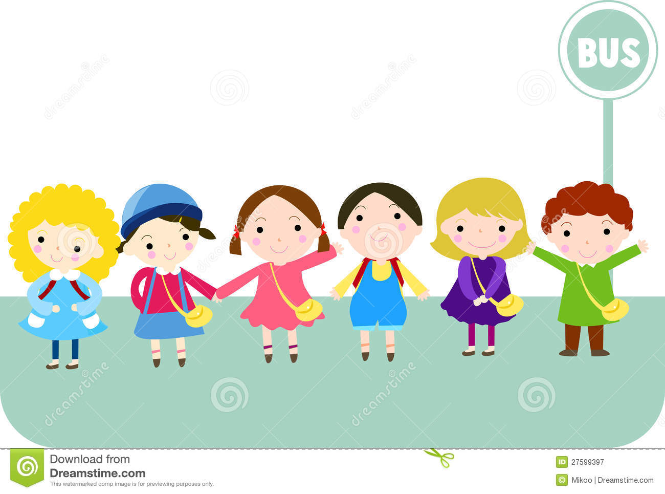 Kids Waiting Clipart.