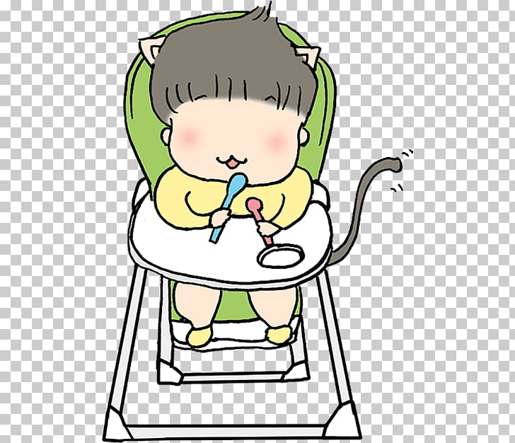 Cartoon Eating , Baby waiting to eat PNG clipart.