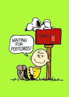 Charlie Brown waiting for mail.
