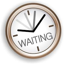 Waiting With Clock Clipart.
