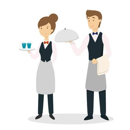 Image result for waiter clipart.