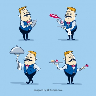 Waiter Vectors, Photos and PSD files.