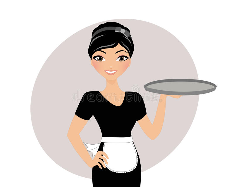 Waitress Stock Illustrations.