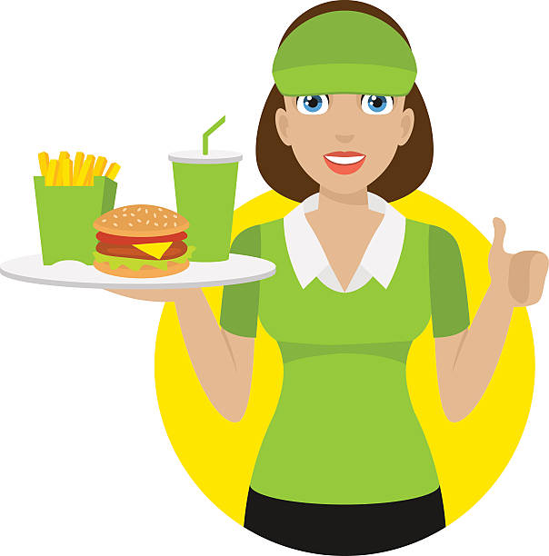 Best Waitress Taking Order Illustrations, Royalty.